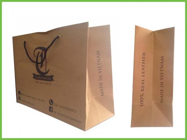 Mẫu túi giấy kraft tái chế 01